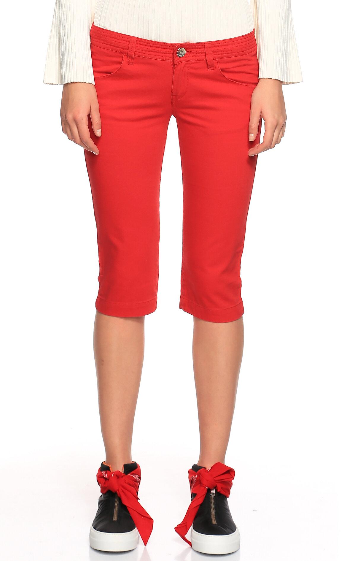 Fornarina Jeans-Fornarina Jeans Kırmızı Bermuda