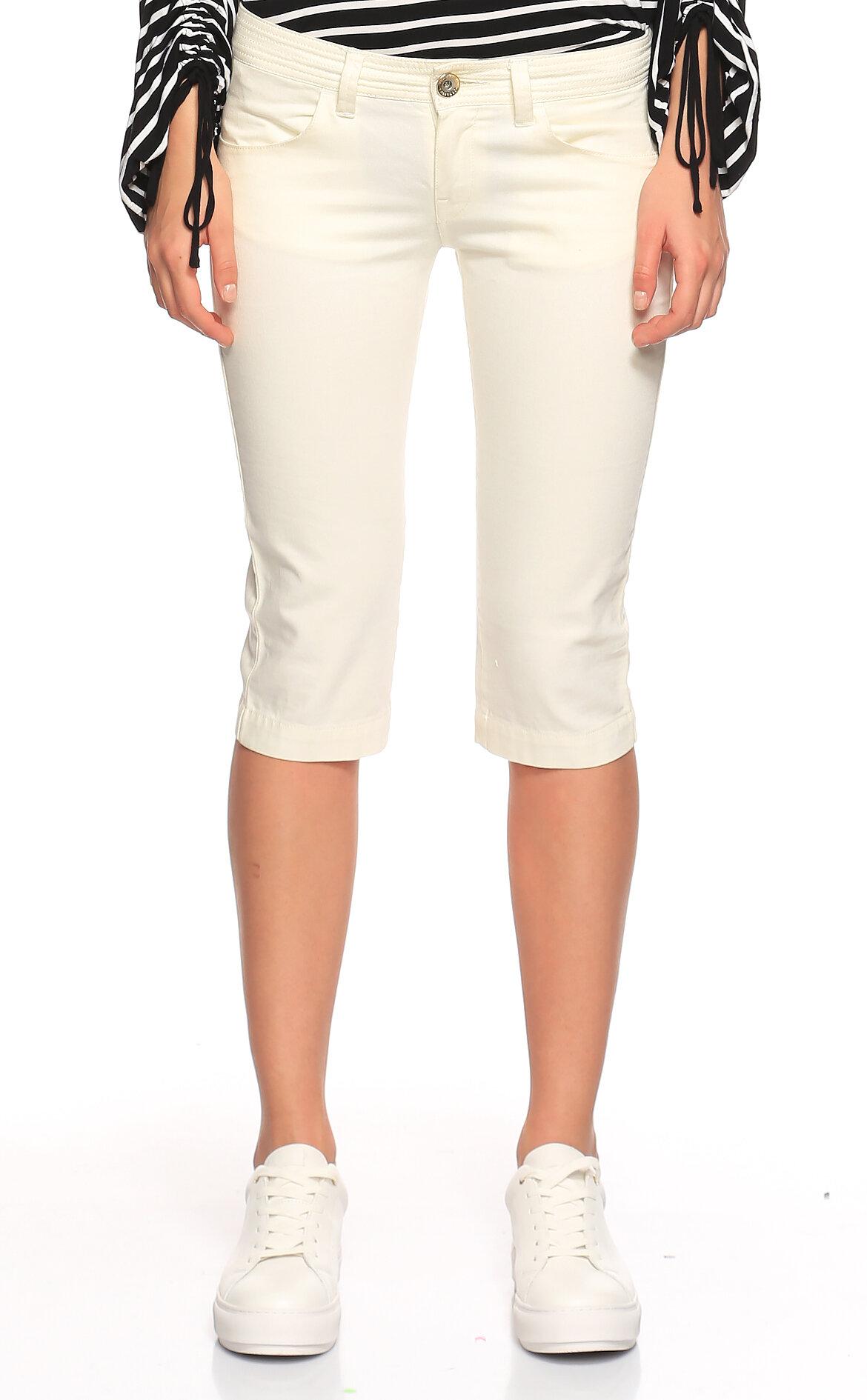 Fornarina Jeans-Fornarina Jeans Beyaz Bermuda