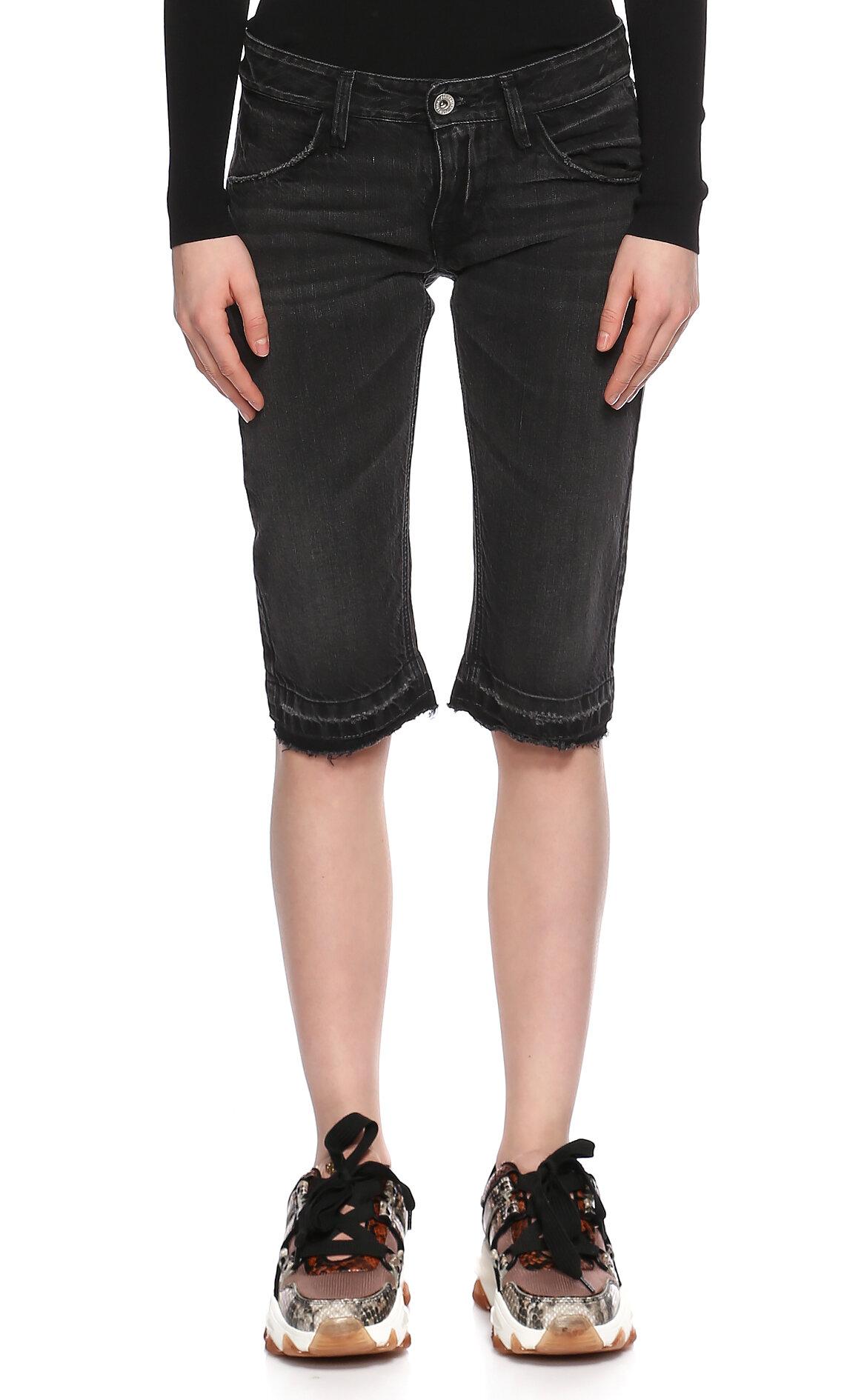 Fornarina Jeans-Fornarina Jeans Siyah Jean Bermuda