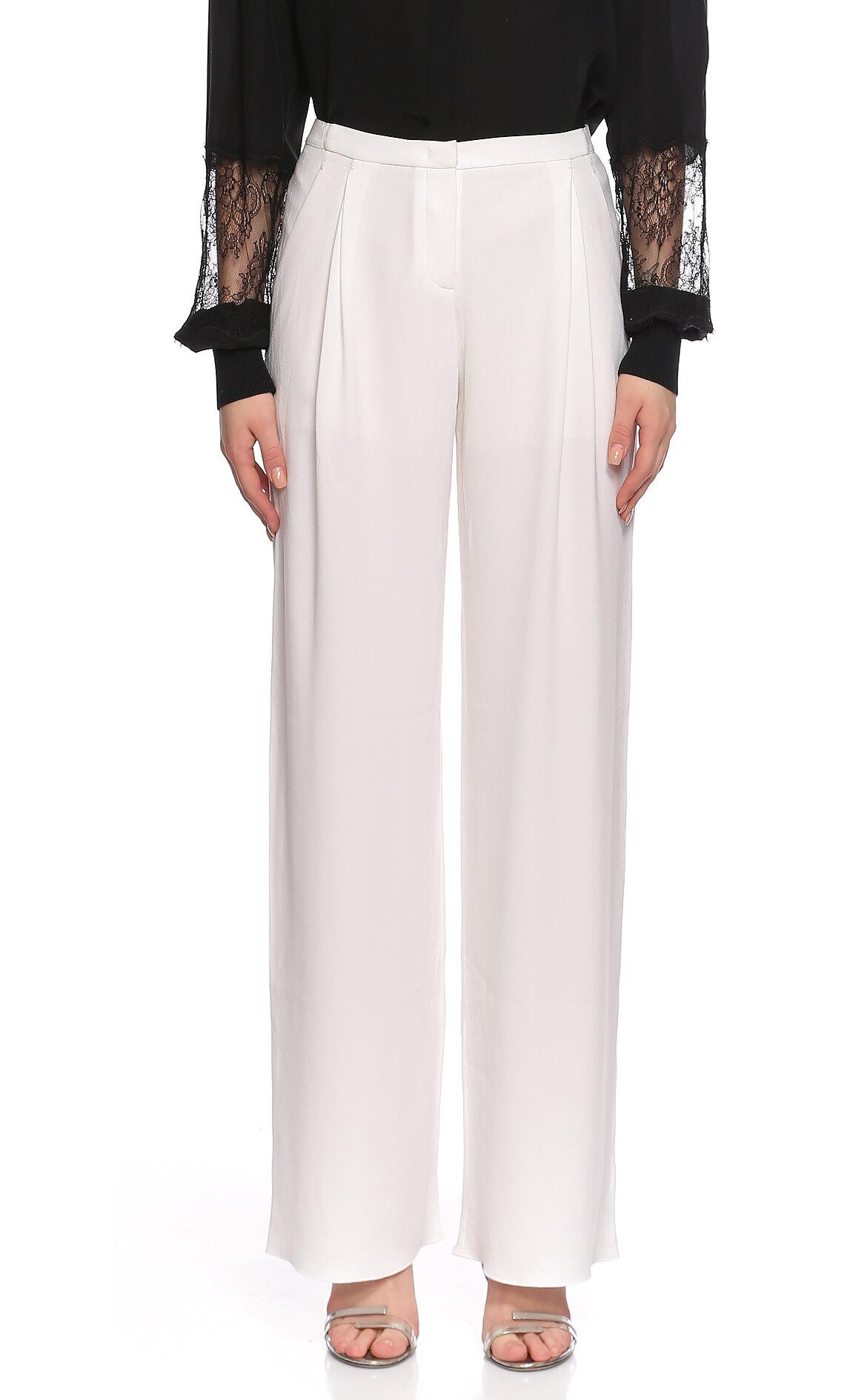 Elie Tahari  Geniş Kesim Beyaz Pantolon