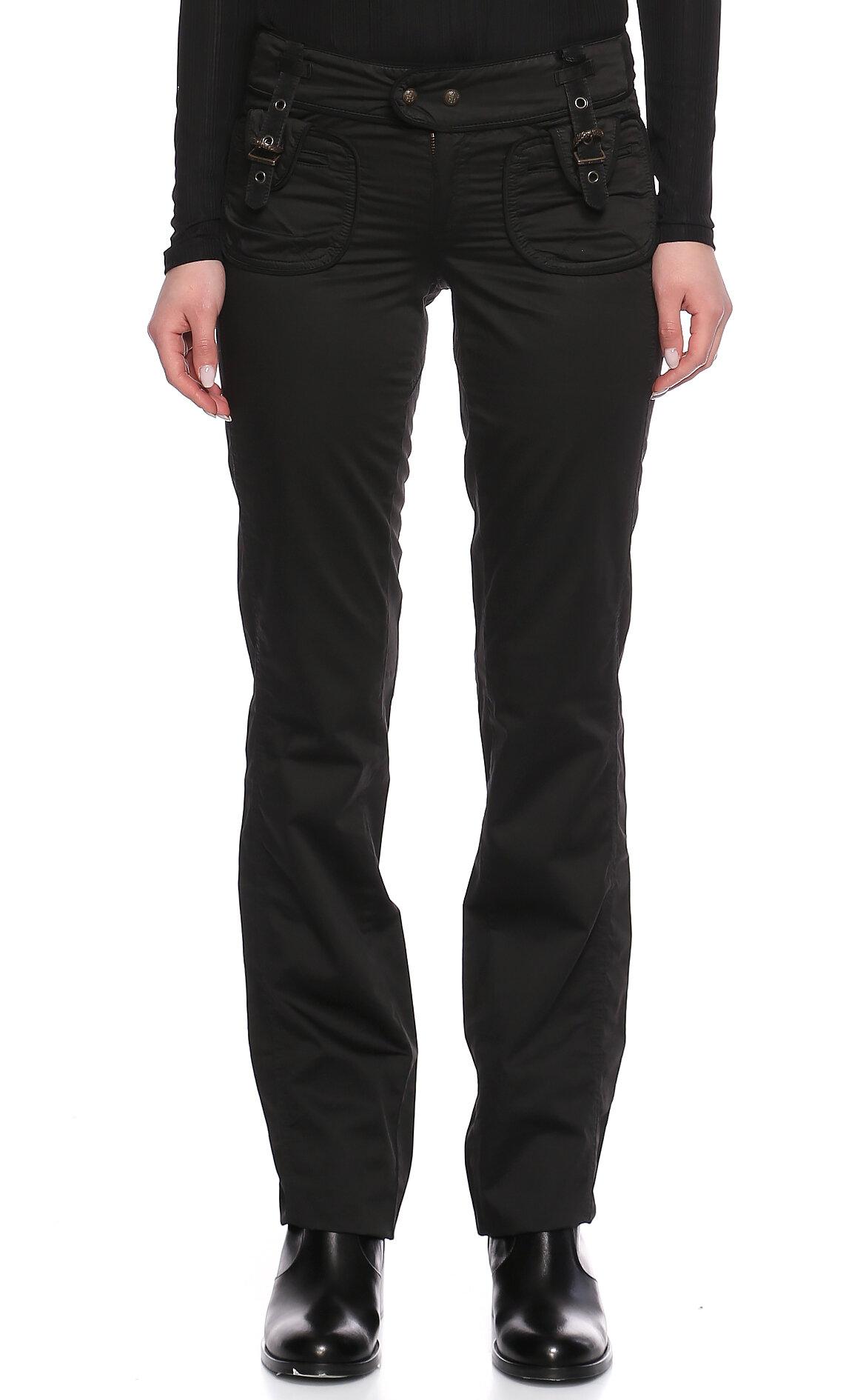 Just Cavalli-Just Cavalli Saten Siyah Pantolon
