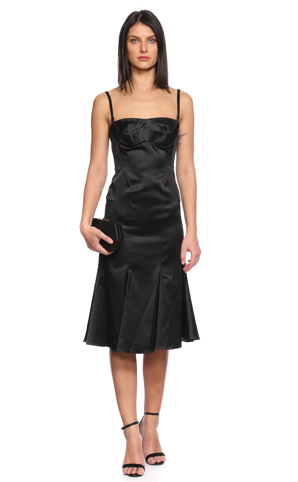 Just Cavalli  Askılı Siyah Elbise