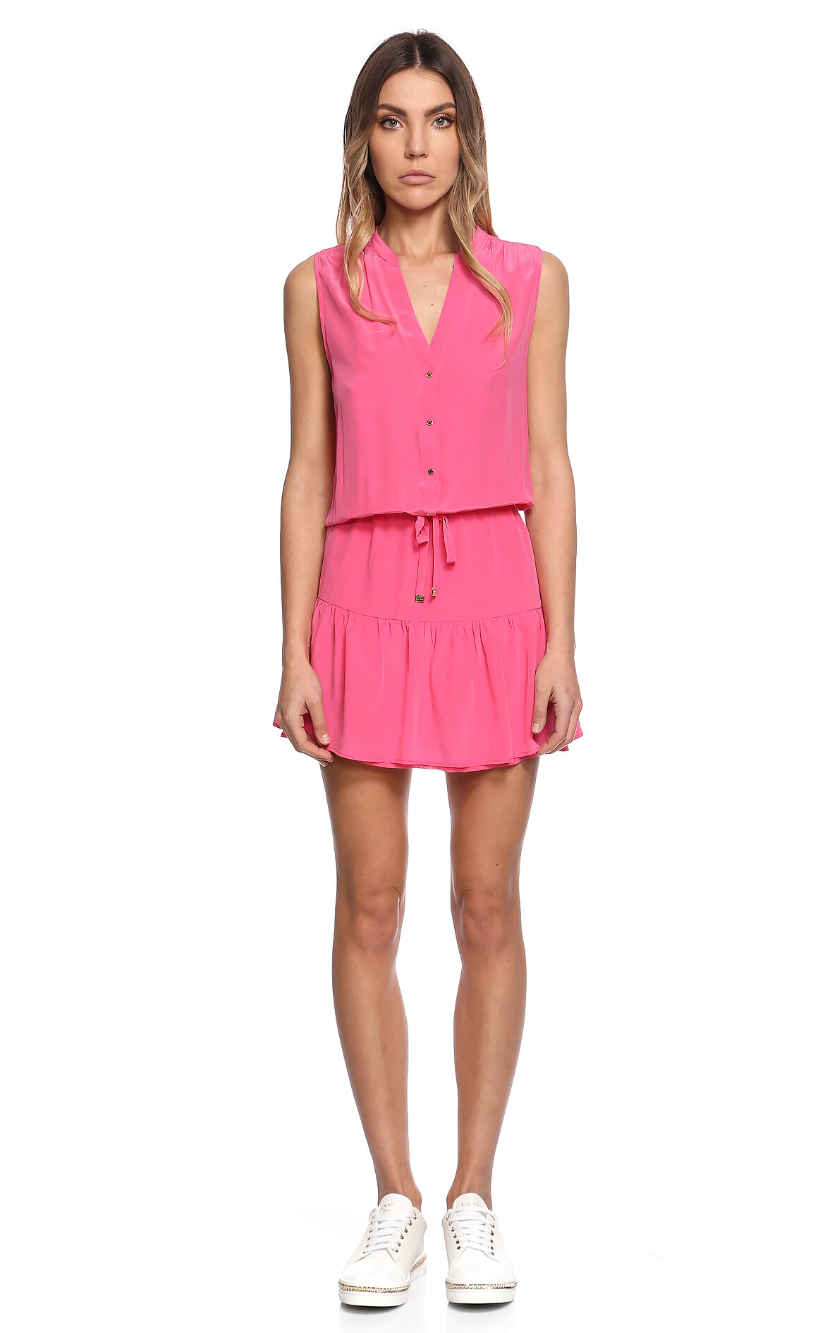Juicy Couture-Juicy Couture Mini Pembe Elbise
