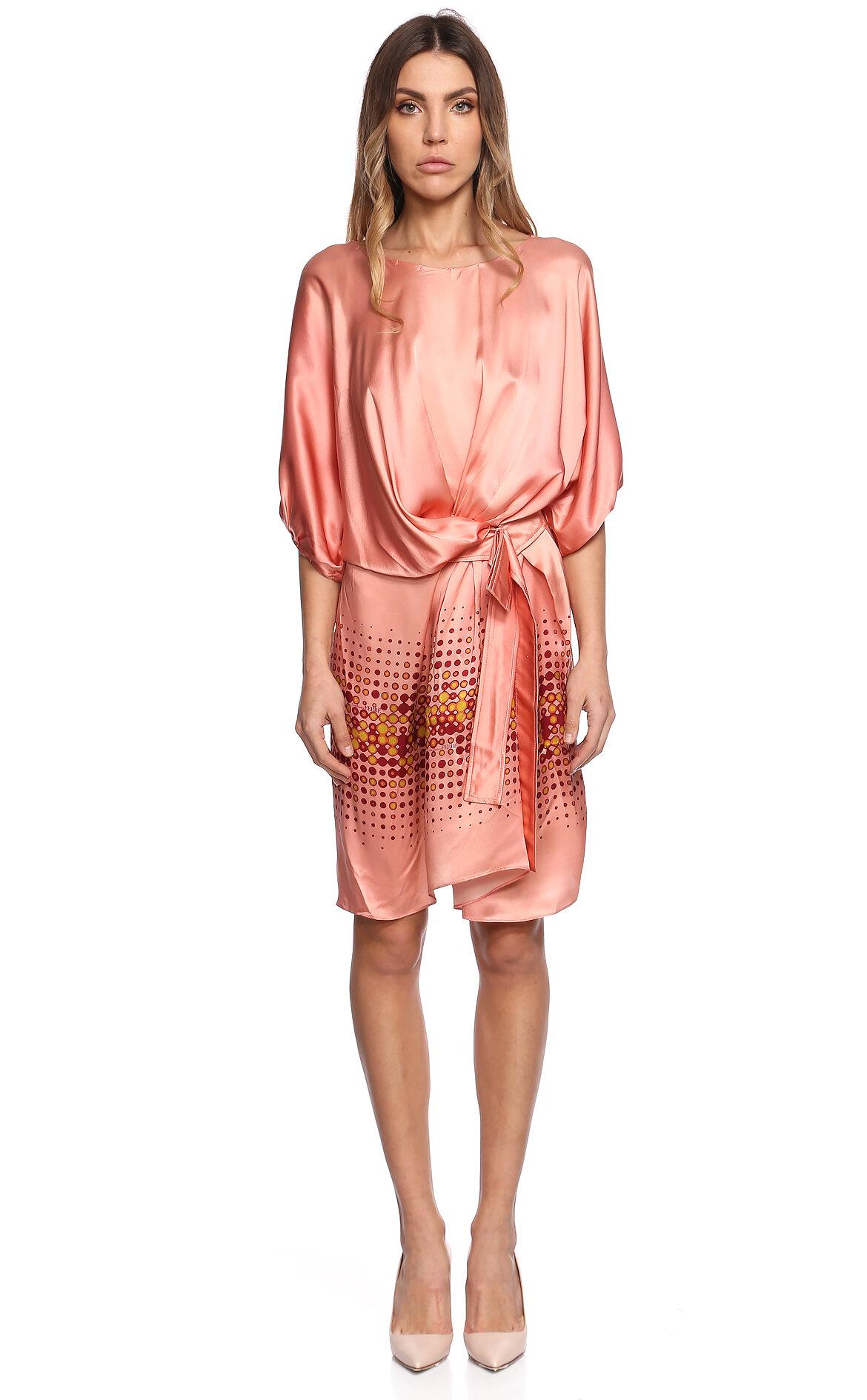 Gianfranco Ferre  Kayık Yakalı Pembe Elbise