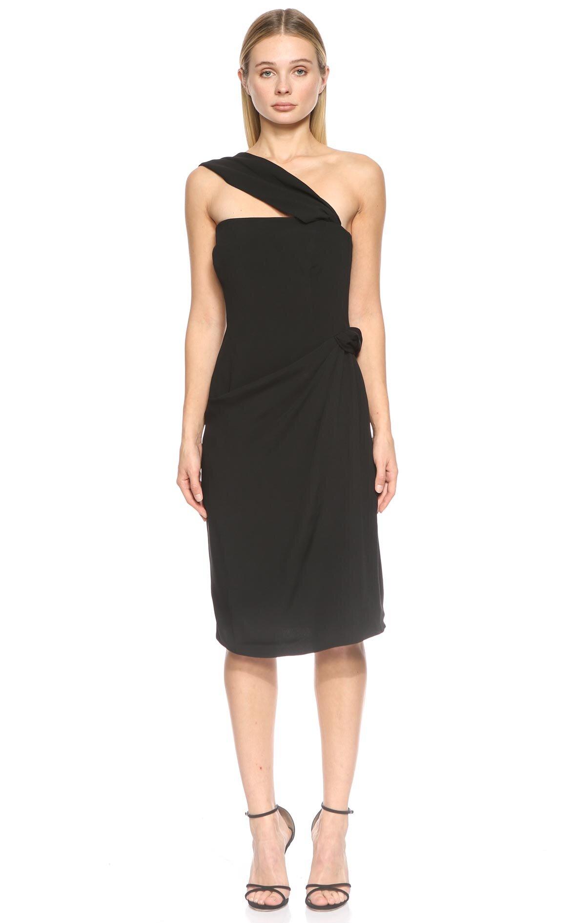 Armani Collezioni  Askılı Siyah Elbise