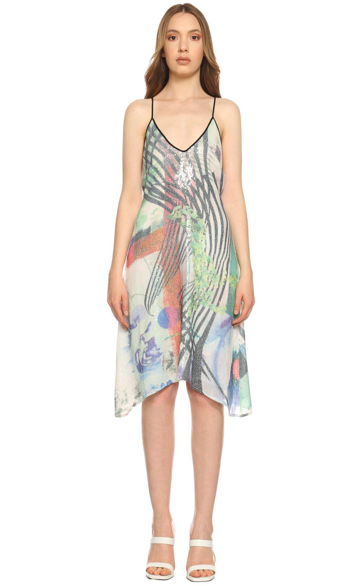 Clover Canyon-Clover Canyon Çok Renkli Elbise