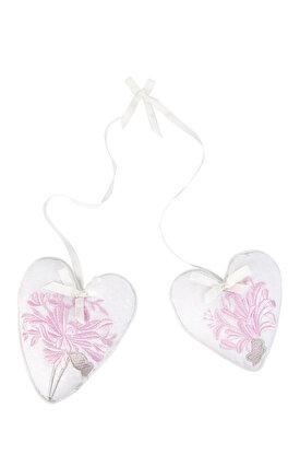 Laura Ashley Honeysuckle Embroidered S/2 Heart Oda Kokusu
