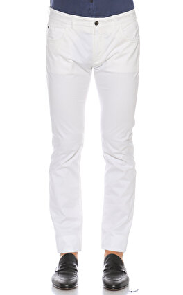 Pal Zileri Beyaz Pantolon