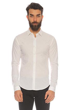 Sandro Düz Desen Beyaz  Gömlek