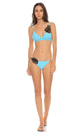Pinko Dantel Detaylı Turkuaz Bikini