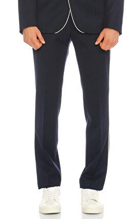 Sandro Düz Desen Lacivert Pantolon