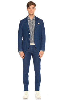 Manuel Ritz Slim Fit Mavi Pantolon