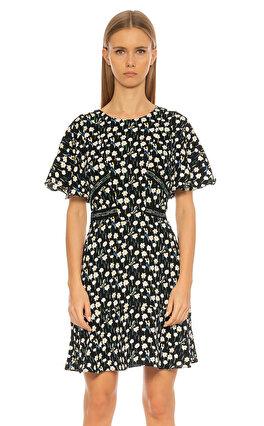 Karen Millen Çiçek Desenli Renkli Elbise