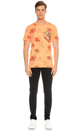 Superdry Çiçek Desenli Mercan T-Shirt