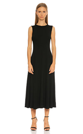 Michael Kors Collection Kolsuz Midi Siyah Elbise