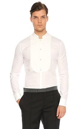 Alexander McQueen Hakim Yaka Beyaz Gömlek