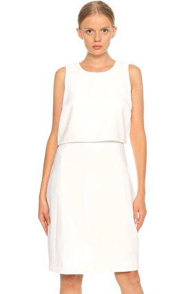 Elie Tahari Kolsuz Beyaz Elbise