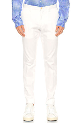 Ralph Lauren Blue Label Slim Fit Beyaz Pantolon
