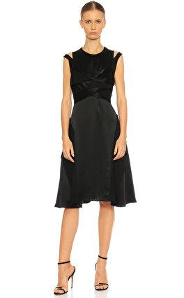Adeam Kolsuz Siyah Elbise