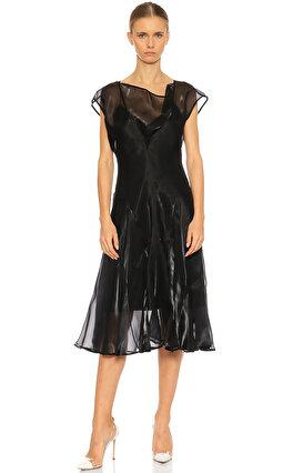 Adeam Diz Altı Siyah Elbise
