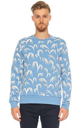 Sandro Karma Desen Mavi Sweatshirt