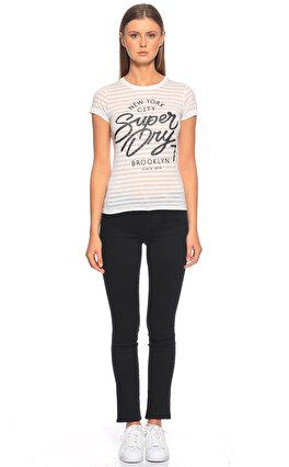 Superdry Baskı Desen Beyaz T-Shirt