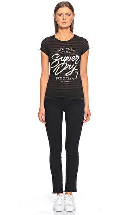 Superdry Baskı Desen Siyah T-Shirt