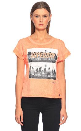 Superdry Baskı Desen Mercan T-Shirt