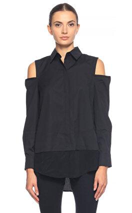 Kaufman Franco Omuz Dekolteli Siyah Gömlek