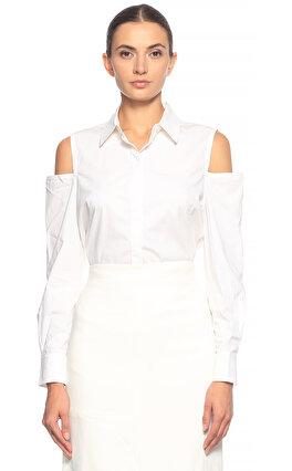 Kaufman Franco Omuz Dekolteli Beyaz Gömlek