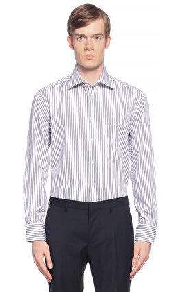 Camicissima Çizgili Beyaz Gömlek