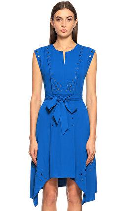 Karen Millen Zımba Detaylı Mavi Elbise
