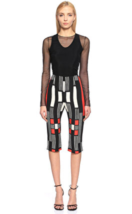 Alexander McQueen Karma Desen Kısa Renkli Pantolon