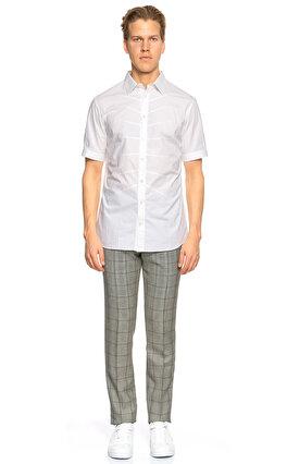 Alexander Mcqueen Kısa Kollu Beyaz Gömlek