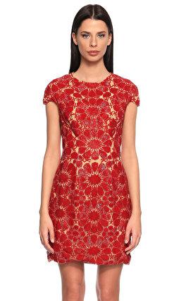Zuhair Murad İşleme Detaylı Kırmızı Mini Elbise