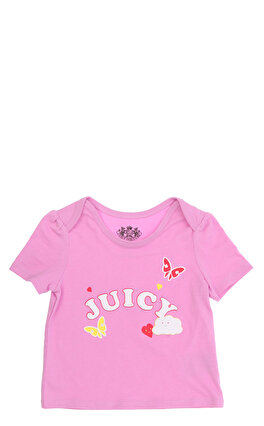 Juicy Couture Kız Bebek  Baskı Desen Lila T-Shirt