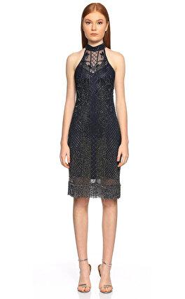 Parker Black İşleme Detaylı Lacivert Elbise