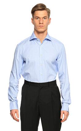 Van Laack Kareli Mavi Gömlek