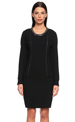Barbara Bui Taş İşleme Detaylı Siyah Elbise