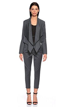 Juicy Couture İşleme Detaylı Gri Blazer