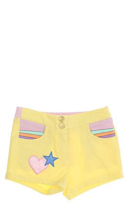 Little Marc Jacobs Kalp Desenli Sarı Kız Bebek Şort