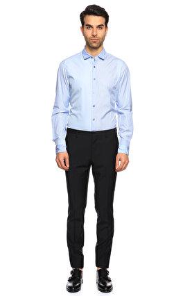 Lanvin Çizgili Açık Mavi Gömlek