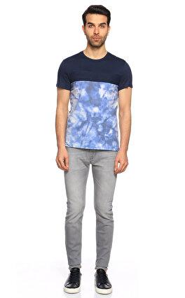 Guess Baskı Desen Lacivert T-Shirt