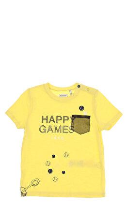IKKS Baskı Desen Sarı Erkek Bebek T-Shirt