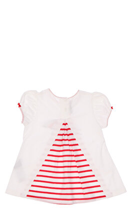 Miss Blumarine Kız Bebek Baskı Desen Beyaz-Kırmızı T-Shirt