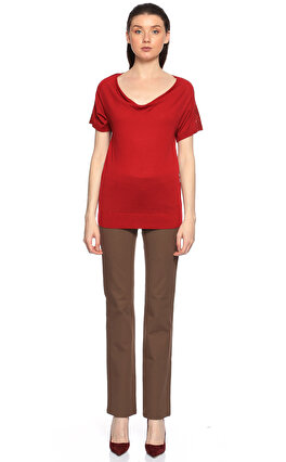 Gerard Darel Pul Payet İşlemeli Kırmızı Sweatshirt