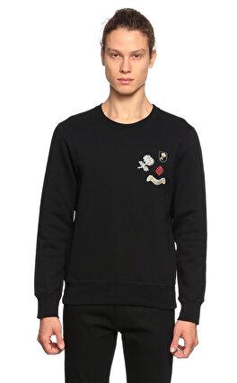 Alexander Mcqueen İşleme Detaylı Siyah Sweatshirt