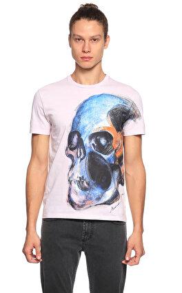 Alexander Mcqueen Baskı Desen Pembe T-Shirt
