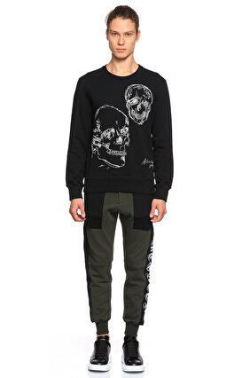Alexander Mcqueen Baskı Desenli Siyah Sweatshirt