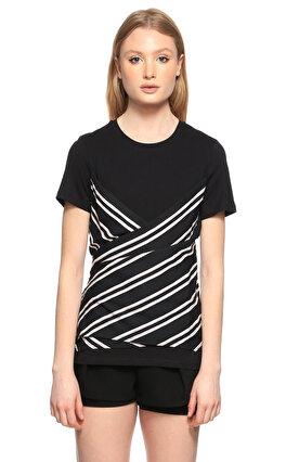 Maje Çizgili Siyah T-Shirt